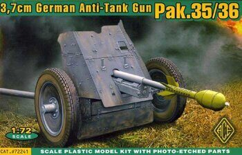 ACE72241 Pak.35/36 (3.7cm AT gun w/etched shield)