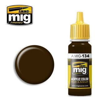 AMIG0134 Ammo Mig BURNT BROWN RED