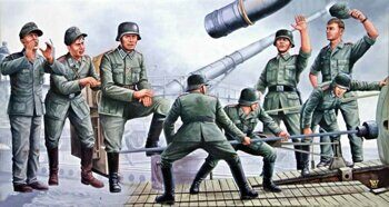 "00406 280mm K5 (E) ""Leopold"" German Railroad Gun Crew"