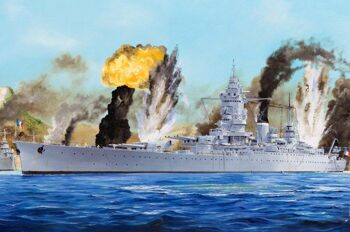 86506 Корабль French Navy Dunkerque Battleship (Hobby Boss) 1/350