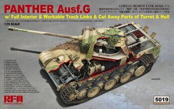 RM-5019 1/35 Panther Ausf.G w/ Full Interior & Cut Away Parts of Turret & Hul