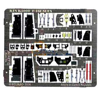 KIN-K5000 F-16I SUFA color photo etched parts for Kinetic 1/48 kit