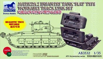 AB3532 MATILDA 2 infantry tank 'flat'type workable track link set