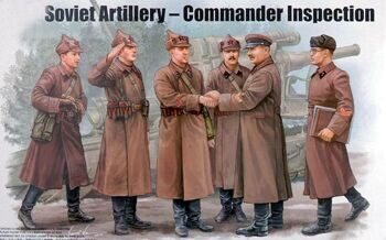 00428 1/35 Soviet Artillery – Commander Inspection