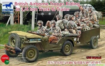 CB35169 1/35 British Airborne Troops Riding in 1/4 ton Truck and Trailer