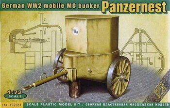 ACE72561 Panzer Nest — German WW2 mobile MG