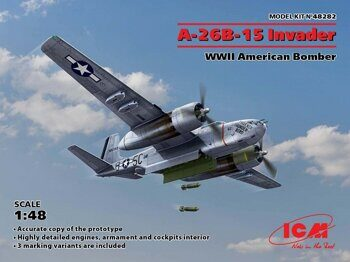 48282 A-26B-15 Invader, WWII American Bomber 1/48