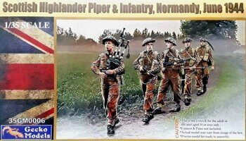 35GM0006 1/35 Scottish Highlander Piper & Infantry, Normandy,June 1944