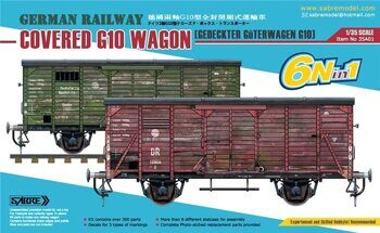 35A01 German Railway COVERED G10 WAGON (6N in 1)