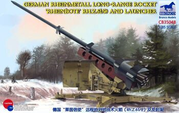 CB35048 1/35 German Rheinmetall Long-Range Rocket 'Rheinbote' (Rh.Z.61/9) and launcher