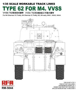 RM-5044 Workable track links for British Sherman VC Firefly, M3, M4A1, M4A4, M4