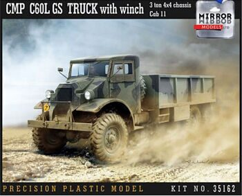 35162 1/35 CMP C60L GS Truck with winch 3 ton 4x4 chassis Cab 11
