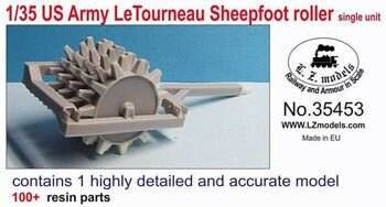 35453 1/35 US Army Letourneau Sheepfoot Roller Single Unit for MNA & LZM (Resin)