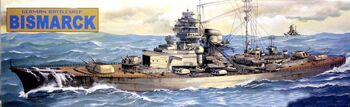 "80910 1/700  German battleship ""Bismarck"""