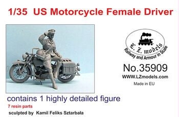 35909 1/35 US Motorcycle Female Driver