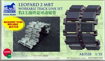 AB3528 LEOPARD 2mbt workable track link set