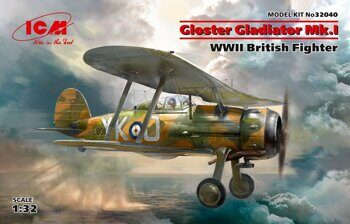 32040 Gloster Gladiator Mk.I, WWII British Fighter 1/32