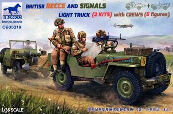 CB35218 1/35 BRITISH RECCE AND SIGNALS LIGHT TRUCK  (2 KITS ) with CREWS