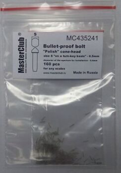 "MC435241 ""Polish"" cone-head  bullet-proof bolt, diameter of the head-0.5mm; diameter of the aperture"